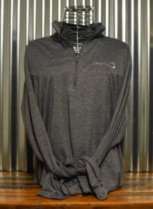 Gray zip front long sleeve shirt