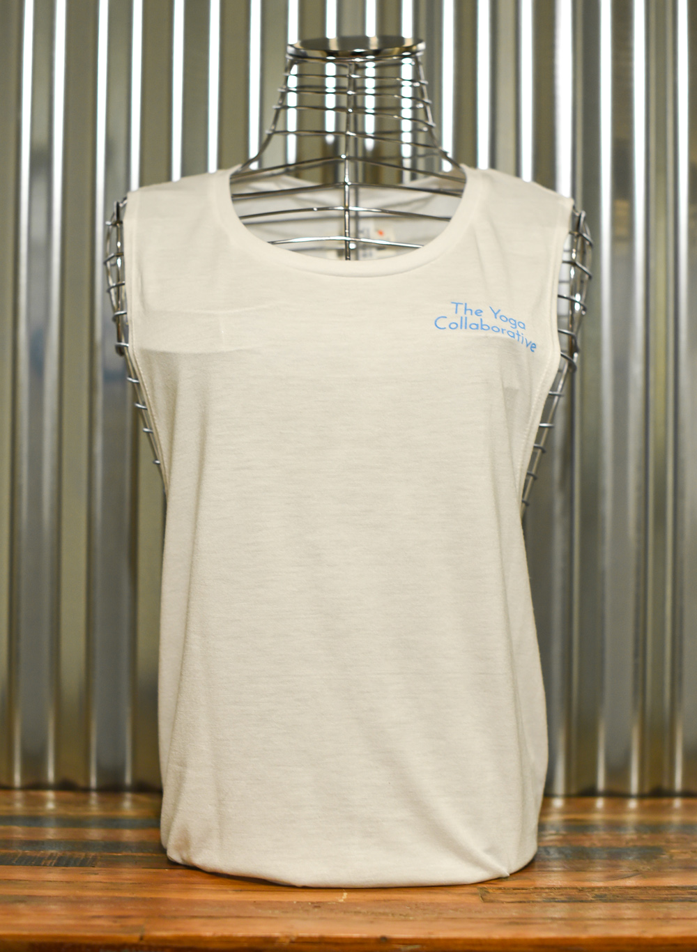 White Ladies Tank – printed front and back. Front view
