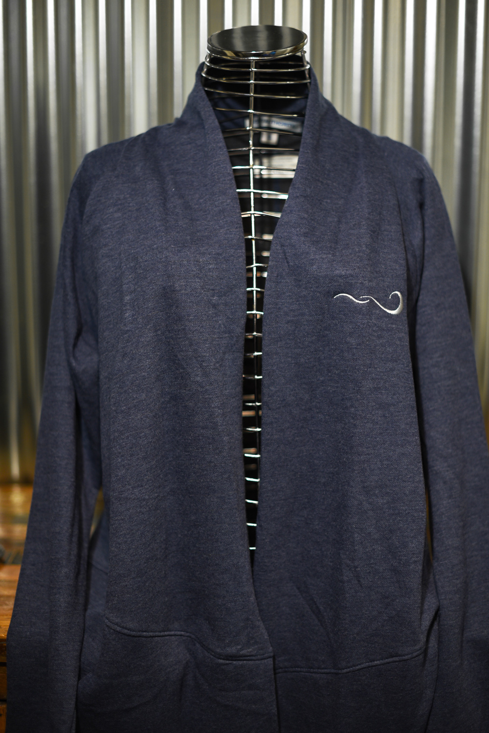 Ladies embroidered wrap with pockets